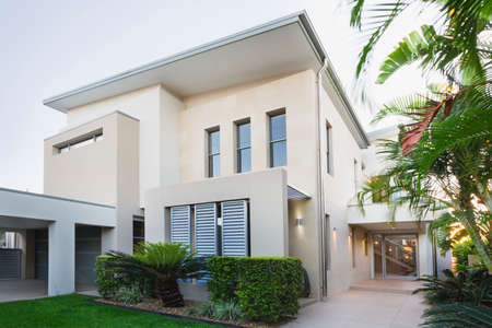 contemporary: Contemporary house exterior on the Gold Coast, Queensland, Australia Stock Photo