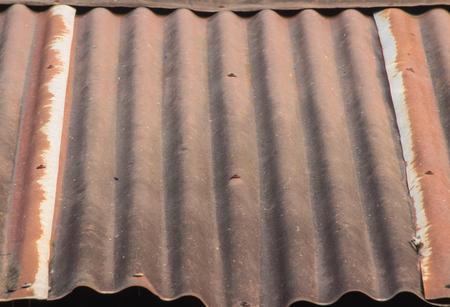 corrugated iron: Roof rusty corrugated iron metal texture