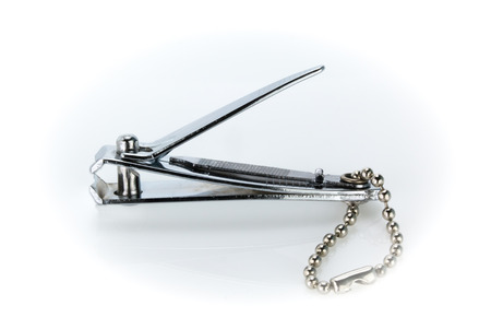nail clippers: Finger Nail clippers  on white background Stock Photo