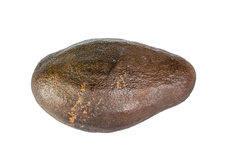 hass: closeup Avocado isolated on a white background