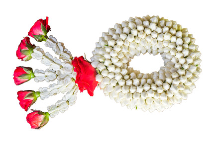 Thai traditional jasmine garland.symbol of Mother's day in thailand