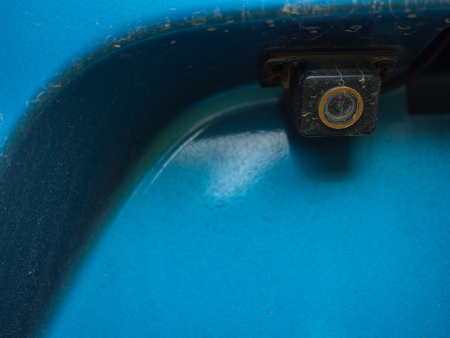 Rear view camera on car modify for safety concept with driver