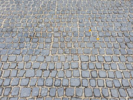 Brick Floor tiles in urban city street, construction and architecture