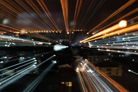 Abstract background of high speed traveling in city