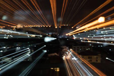 Sfondo astratto di viaggi ad alta velocità in città Archivio Fotografico