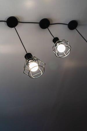 Modern three ceiling lamp interior lighting bulbs decoration contemporary