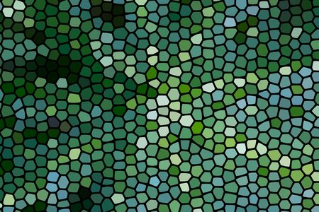 The Abstract colorful honeycomb honey seamless pattern hexagon mosaic background from bright green leaves