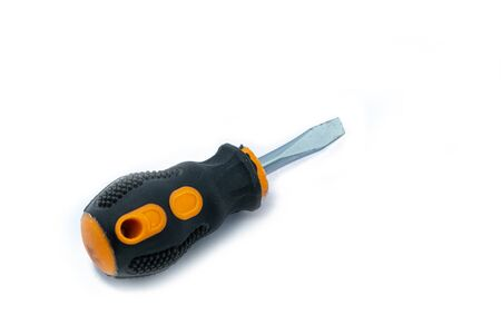 A professional slotted Screwdriver isolated on white
