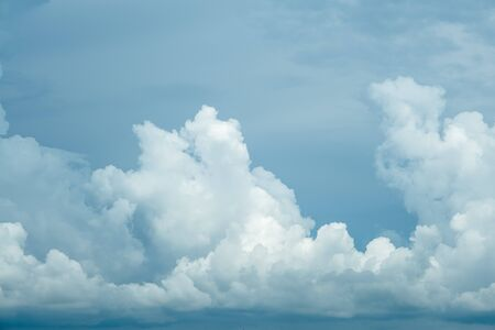 The Photo of some white clouds and blue sky cloudscape for background use