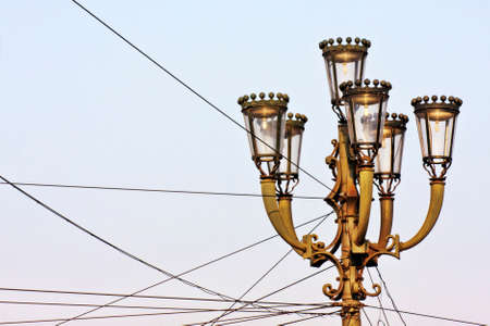 medioeval: Ancient street lamps