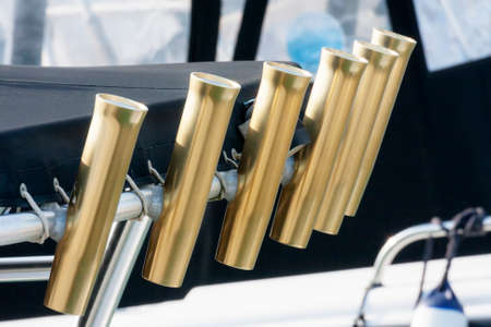 holders: Several chrome rod holders