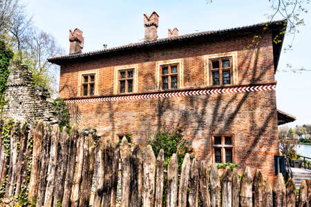 slits: A view of medieval fortress - Turin - Italy