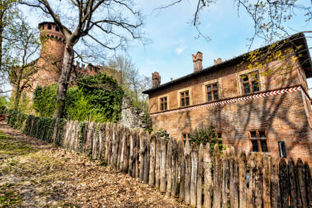slits: A view of medieval village - Turin - Italy