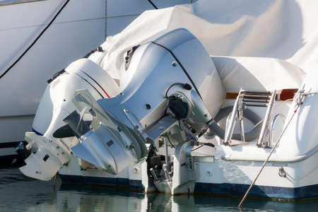outboard: Couple of outboard engines