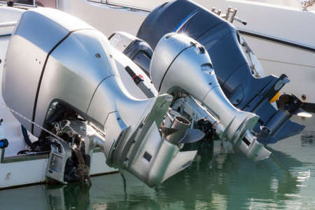outboard: Outboard engines in rest