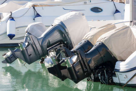 outboard: Outboard engines with cover