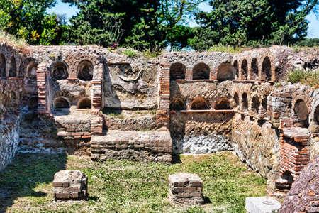 necropolis: Roman necropolis columbarium in ancient Ostia - Italy