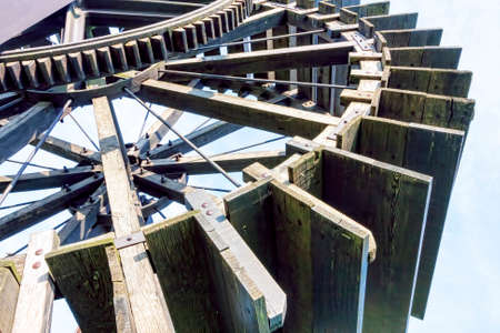water wheel: Ancient water wheel detail