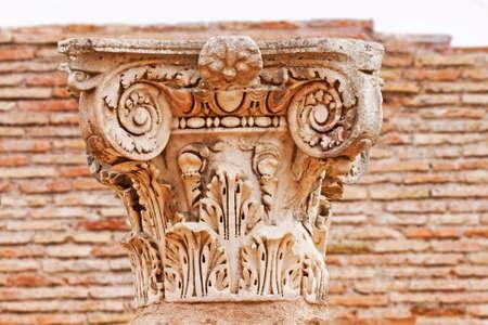 marqueteria: Antigua capital romana de cerca en Ostia Antica - Roma - Italia