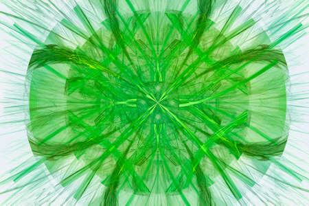 Abstract design with golden and green filaments