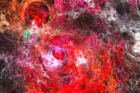 Multicolored abstract drawn background Stock Photo