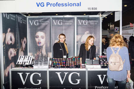 charisma: Moscow, Russian Federation - April 20, 2017: Intercharm XVI International exhibition of professional cosmetics and equipment for beauty salons