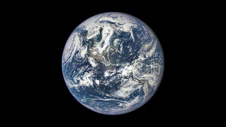 La bellezza dell'universo: Meraviglioso Pianeta Terra con vista centrata sulle Americhe