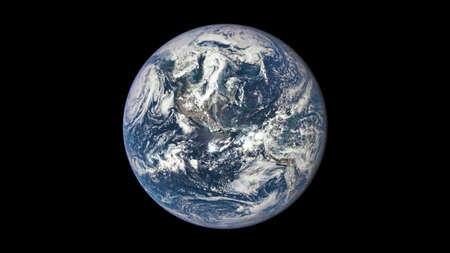 The beauty of the universe: Wonderful Planet Earth with view centered on the Americas 免版税图像