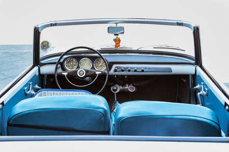 Rome,Italy - July 20, 2019: On occasion of  Rome capital city Rally event, an exhibition of vintage cars has been set up with the beautiful car model Lancia Appia Convertible manufactured by Italian Lancia since 1953 to1963 Redactioneel