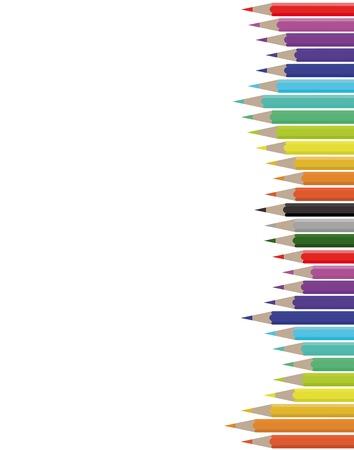 sheet colorful pencils Illustration