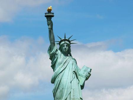 La estatua del monumento nacional de la libertad en Nueva York