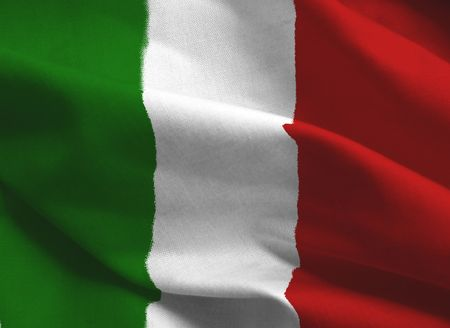 people waving: Bandera italiana