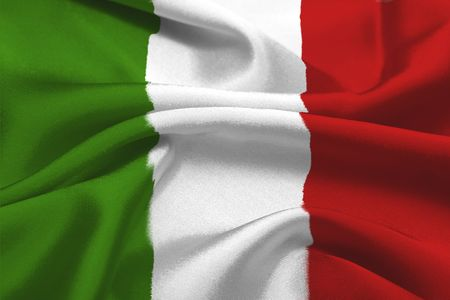 italian flag: The Green, white and red italian flag