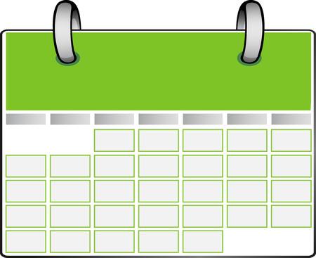 icono de calendario: Calendario verde  Vectores