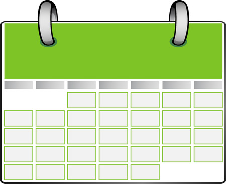 Green Calendar Stock Vector - 7861443