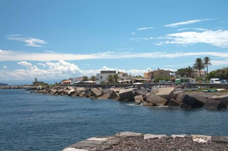 salina: port of Salina, Sicily