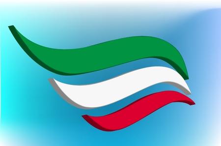 italian flag: Astratto bandiera italiana