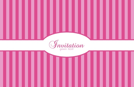 Background invitation with pink and purple stripes Vector