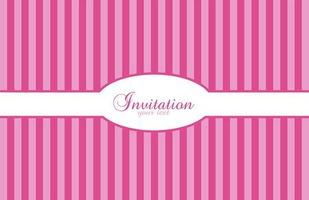 Invitaci�n de fondo con rayas de color rosas y morados Vectores