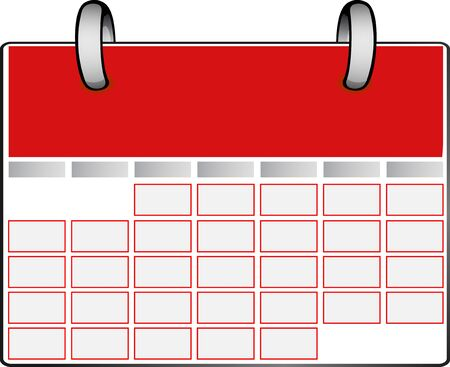 A red calendar with ring Stock Vector - 9844186