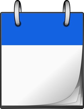 calendar icons: An blue calendar with ring and white sheets Illustration
