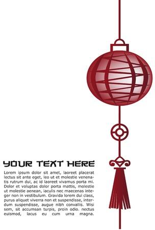Rojo oriental linterna