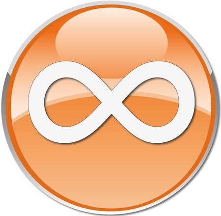 buttom: infinite symbol icon orange
