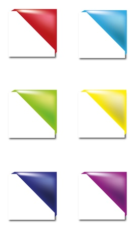 Coloured bookmarks Vector