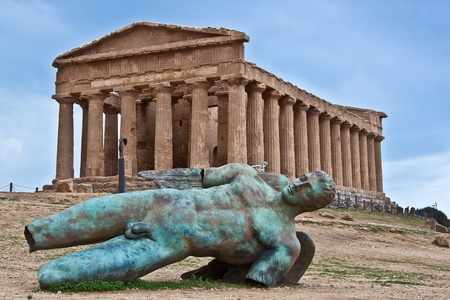 Valley of the Temples Agrigento, Sicily Stock Photo