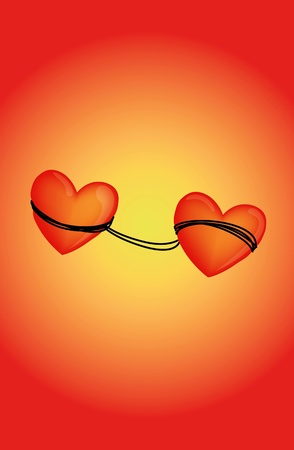 Love bond Stock Vector - 12128426