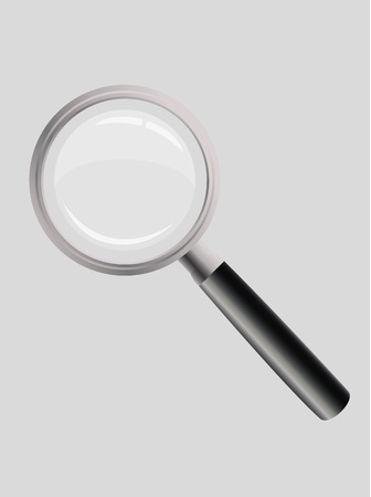 glas: Magnifying glass Illustration