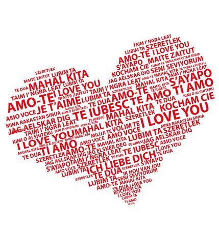 cuore testo rosso