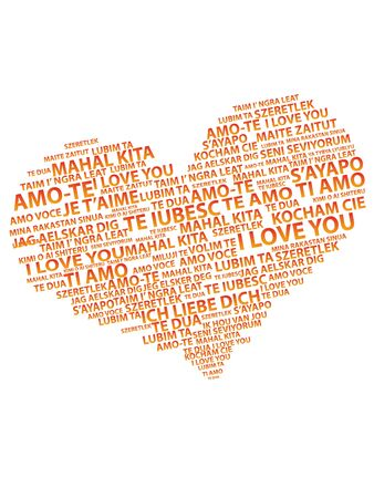 heart with text: heart text