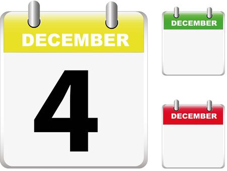 Set of calendars Illustration